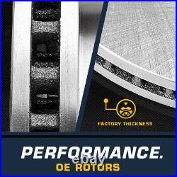 Front Rear Rotors Ceramic Pads For 1998 1999 2000 2001 2002 Honda Accord