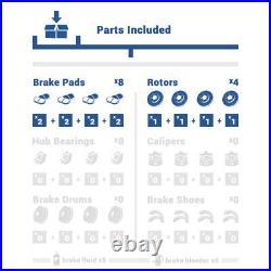 Front+Rear Rotors Ceramic Pads For 2003 2004 2005 2006 2007 Honda Accord