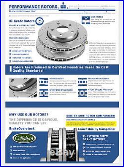 Front and Rear Brake Disc Rotors & Ceramic Pads Kit BMW 525i 528i E39 SEDAN