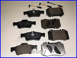 Front and Rear Brake Pad Sets with Sensors For MERCEDES C CL CLK CLS E S GENUINE