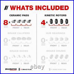 Front and Rear Brake Rotors Ceramic Pads For 2008 2009 2010 Subaru Impreza 2.5i