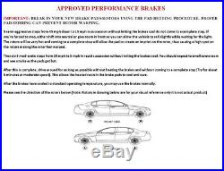 Front and Rear Brake Rotors Drilled & Slotted & Ceramic Pads Camry Avalon ES350