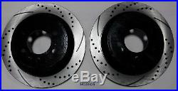 Front and Rear Brake Rotors Drilled & Slotted with Ceramic Pads 2012-2017 F150