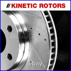 Front and Rear Brakes Rotors + Brake Pads For Chevy Cobalt Malibu Pontiac G6 G5
