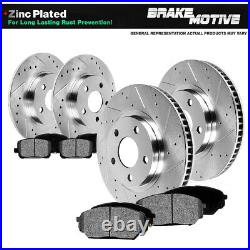 Front and Rear Drill Slot Brake Rotors & Metallic Pads For PT Cruiser Neon SRT-4