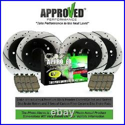 Front and Rear Drilled & Slotted Brake Rotors & Pads Acadia Enclave Traverse