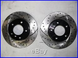 Front and Rear Kit Performance Drilled & Slotted Brake Rotors with Ceramic Pads