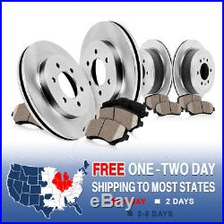 Front and Rear OE Brake Disc Rotors & Ceramic Pads Kit 2012 2013 2014 FORD F150