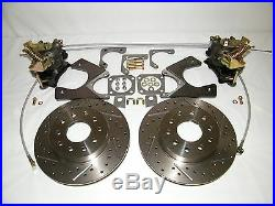 GM 10 & 12 Bolt Rear Disc Brake Conversion Kit Drilled & Slotted Rotors 4 Wheel