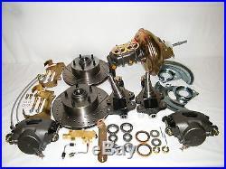 GM 4 Wheel Disc Brake Conversion Kit 2 Drop Spindles Front & Rear Disc Brakes