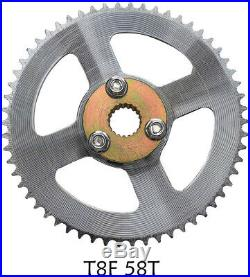 Go Kart Rear Axle Kit Brake Hub Disc Rotor T8F Chain Sproket Drift Trike Cart