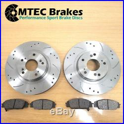 Golf 2.0 GTi mk5 04-08 Front & Rear Drilled Grooved Brake Discs & MTEC Pads