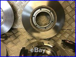 HEAVY DUTY FORD TRANSIT FRONT & REAR DISCS & PADS WITH SENSORS TDCi MK7 SWB