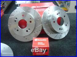 Honda CIVIC 2.0 Type R Ep3 Brake Disc Brembo Rear Cross Drilled Grooved & Pad