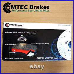 Honda Civic EP2 5 Stud Front & Rear Drilled Grooved Brake Discs & MTEC Pads