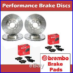 Honda Civic Type R EP3 Front & Rear Drilled & Grooved Brake Discs & Brembo Pads