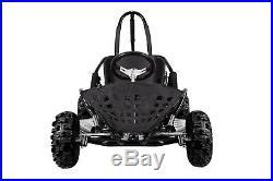KIDS GO KART BUGGIE 80CC 25MPH BUGGY AUTO Rear DISC BRAKES Black
