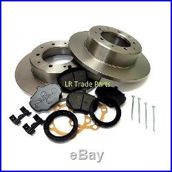 Land Rover Discovery 1 200tdi 300tdi Front & Rear Solid Brake Discs & Pads Kit