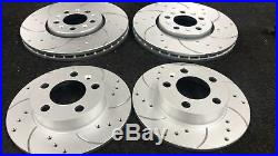 Leon Ibiza Audi Tt A3 Golf Mk4 Front Rear Drilled Grooved Brake Discs Brembo Pad
