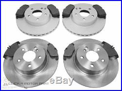 MERCEDES C-CLASS C220 CDi W204 07-13 FRONT & REAR BRAKE DISCS & PADS NOT AMG