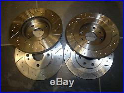 Mazda MX5 Mk1/2 1.6/1.8 Grooved Brake Discs & EBC UltiMAX Pads, Fnt + Rear