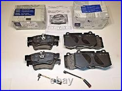 Mercedes Genuine Front and Rear Brake Pad Set Pads withSensor's Complete Set