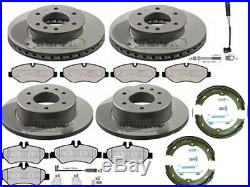 Mercedes Sprinter Front & Rear Brake Discs And Pads Hand Brake Shoes 2006 2016