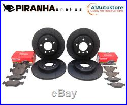 Mini R50/R53 1.4 1.6 01-06 Grooved Front & Rear Brake Discs & Pads