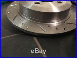 Mini R53 Cooper S Grooved Brake Discs & EBC UltiMAX Pads, Fnt + Rear