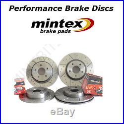 Mitsubishi Lancer Evo 6 7 8 9 Front Rear Dimpled Grooved Brake Discs Mintex Pads