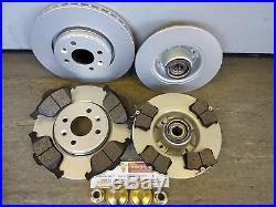 Mk2 Renault Megane Front & Rear Brake Discs & Pads + Rear Bearings 2005-2009