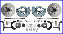Mopar 1962-74 B & E Body Front & Rear Power Disc Brake Conversion Kit Adjustable