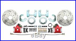 Mopar B-Body 8 3/4 Rear Performance Disc Brake Kit with Red PC Calipers