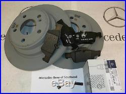 NEW Genuine Mercedes-Benz E-Class 212 Rear Brake Pads, Discs & Sensor Pack Kit