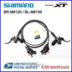 New SHIMANO XT BL-M8100 BR-M8120 4 Pistons Disc Ice Tech Brake Set F&R OE