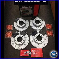 Porsche 911 996 997 Carrera 2 4 3.4/6 Front Rear Drilled Brake Discs Brembo Pads