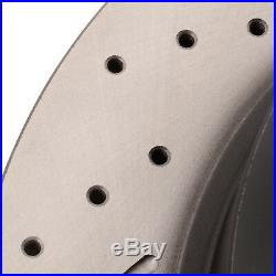 REAR DRILLED GROOVED 308mm BRAKE DISCS FOR NISSAN NAVARA PATHFINDER 3.0 4.0