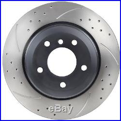 REAR DRILLED GROOVED PAIR 320mm BRAKE DISCS FOR BMW E60 E61 530D 525 D 520i 03+