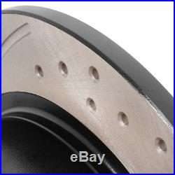 REAR GROOVED DRILLED 258mm BRAKE DISCS FOR BMW Z1 ROADSTER 2.5 1988-1991