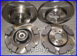 RENAULT SCENIC FRONT & REAR BRAKE DISCS AND PADS c/w BEARINGS + ABS RINGS'99-03