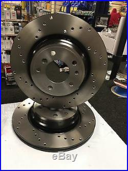 Rear Brake Disc Cross Drilled For Bmw M3 E46 Coupe And Convertible