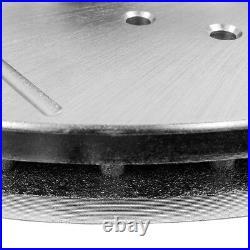 Rear Drill & Slot Brake Rotors And Ceramic Pads For Dodge Ram 1500 2500 3500