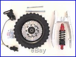 Rear Swingarm Shock 10 Wheel Tire Disc Brake Kit Coolster Pit Dirt Bike I Re05