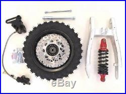Rear Swingarm Shock 10 Wheel Tire Disc Brake Kit Coolster Pit Dirt Bike M Re05