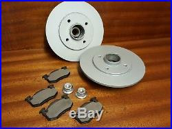 Renault 5 Gt Turbo New Rear Brake Discs Including Fitted Bearings And Pads
