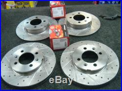 Rove Mgf Mgtf Cross Drilled Grooved Brake Disc Mintex Pads Front Rear