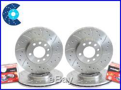 Skoda Octavia VRS mk1 Drilled Grooved Brake Discs Pads Front & Rear