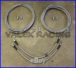 Stainless Rear Brake Line Replacement Kit For 92-95 Honda Civic withrear disc