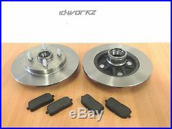 Toyota Starlet Glanza GT Turbo Rear Brake Discs & Pads EP82 EP91 (ABS)