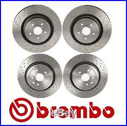 Two Front+Two Rear Disc Brake Rotors Brembo For Lexus IS F 2008 2009-2014